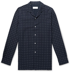 Officine Generale Camp-Collar Printed Lyocell Shirt