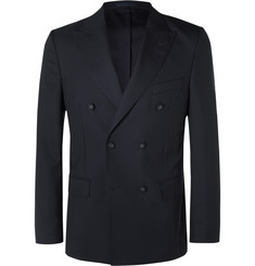Officine Generale - Navy Unstructured Slim-Fit Double-Breasted Wool Blazer