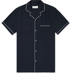 Officine Generale Piped Lyocell Shirt