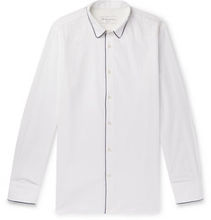 Officine Generale Piped Cotton-Seersucker Shirt
