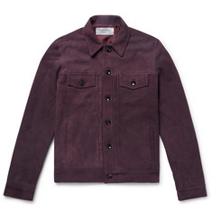 Officine Generale Liam Suede Trucker Jacket