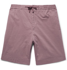 Officine Generale Garment-Dyed Stretch-Cotton Drawstring Shorts