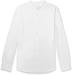 Officine Generale Slim-Fit Grandad-Collar Cotton-Seersucker Shirt