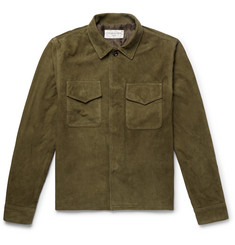 Officine Generale Marine Suede Shirt Jacket
