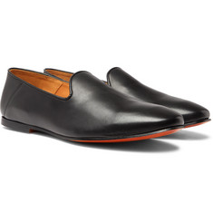 Officine Generale - Collapsible-Heel Leather Slippers