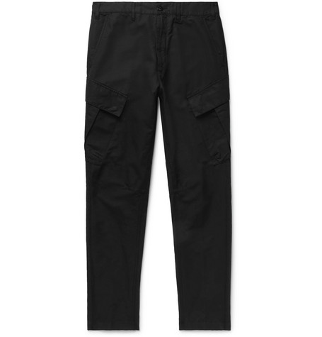Tapered Cotton And Linen Blend Cargo Trousers by Stone Island Shadow Project