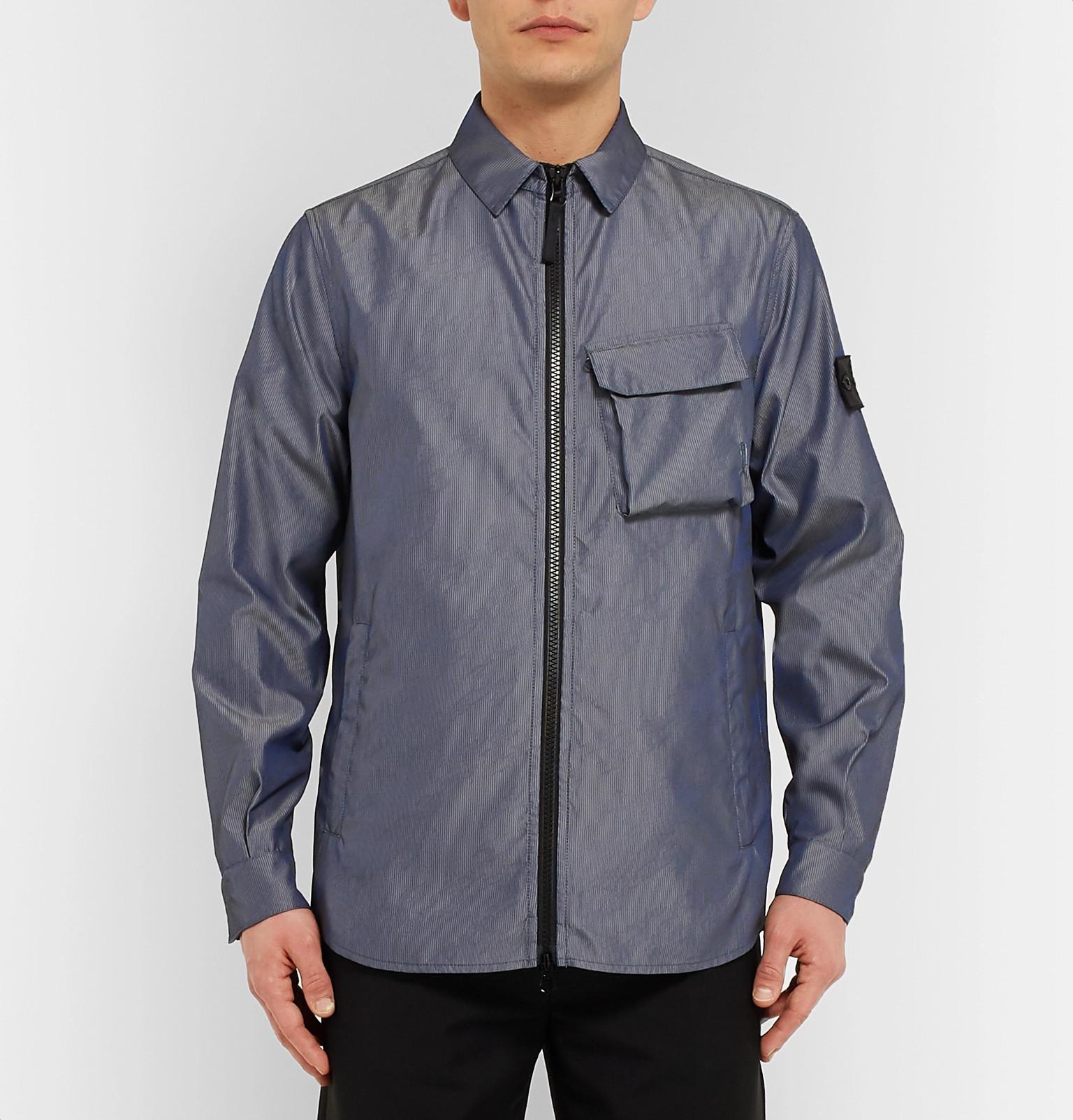 80ca66d5c5a4ae Stone Island Shadow Project - Lenticular Jacquard Shell Shirt Jacket