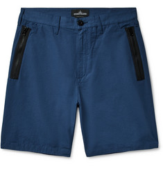 Stone Island Shadow Project Wide-Leg Cotton and Linen-Blend Bermuda Shorts