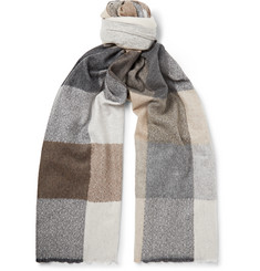 Begg & Co - Brodick Busby Checked Cashmere Scarf