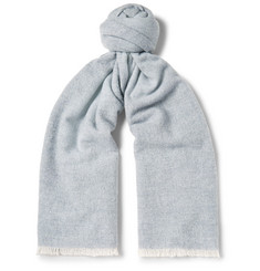 Begg & Co - Beaufort Mélange Wool and Cashmere-Blend Scarf