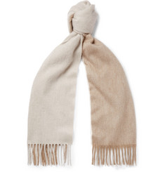Begg & Co - Arran Two-Tone Fringed Cashmere Scarf