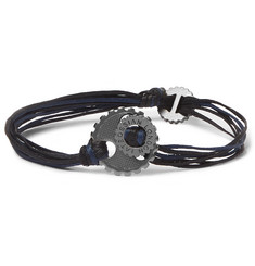 TATEOSSIAN Gear Elemental Cord and Rhodium-Plated Bracelet