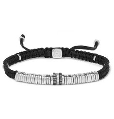 TATEOSSIAN Macramé and Rhodium-Plated Sterling Silver Bracelet