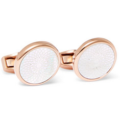 TATEOSSIAN Rotondo Rose Gold-Plated Mother-of-Pearl Cufflinks