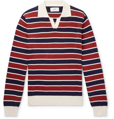 Mr P. Striped Knitted Cotton Polo Shirt