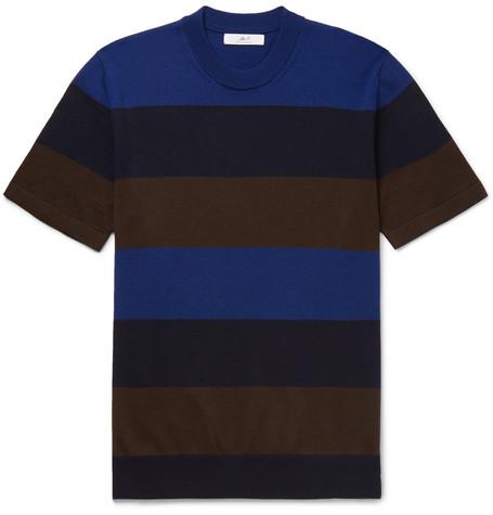 28a3bbb92 Mr P. - Striped Merino Wool T-Shirt