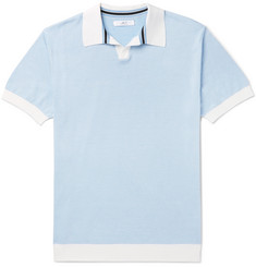 Mr P. - Knitted Cotton-Piqué Polo Shirt