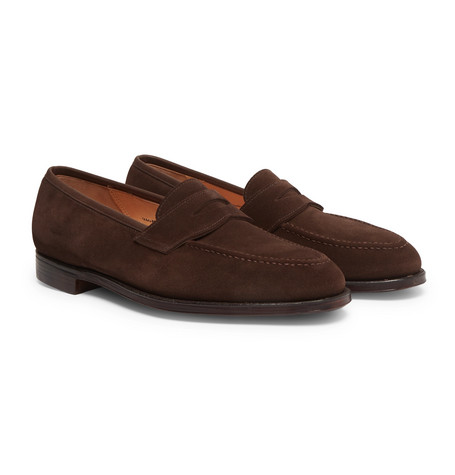 Bradley Suede Penny Loafers - Brown
