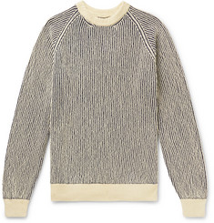 Mr P. - Striped Ribbed Cotton-Blend Sweater