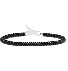 Mikia Onyx And Sterling Silver Bracelet