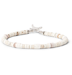 Mikia Silver-Plated, Shell and Magnesite Bracelet