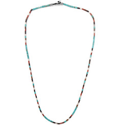 Mikia - Arizona Silver-Tone Beaded Necklace