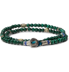 Mikia Malachite Beaded Wrap Bracelet