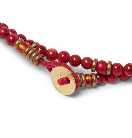 Beaded Wrap Bracelet by Mikia