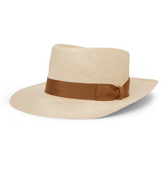 Lock & Co Hatters - Sicily Grosgrain-Trimmed Straw Panama Hat