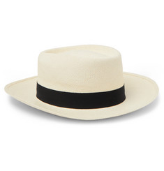 Lock & Co Hatters Savannah Grosgrain-Trimmed Straw Panama Hat