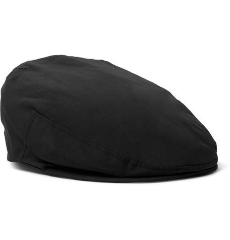 LOCK & CO HATTERS Glen Water-Repellent Woven Flat Cap in Black