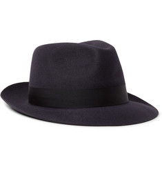 Lock & Co Hatters - Fairbanks Grosgrain-Trimmed Rabbit-Felt Trilby