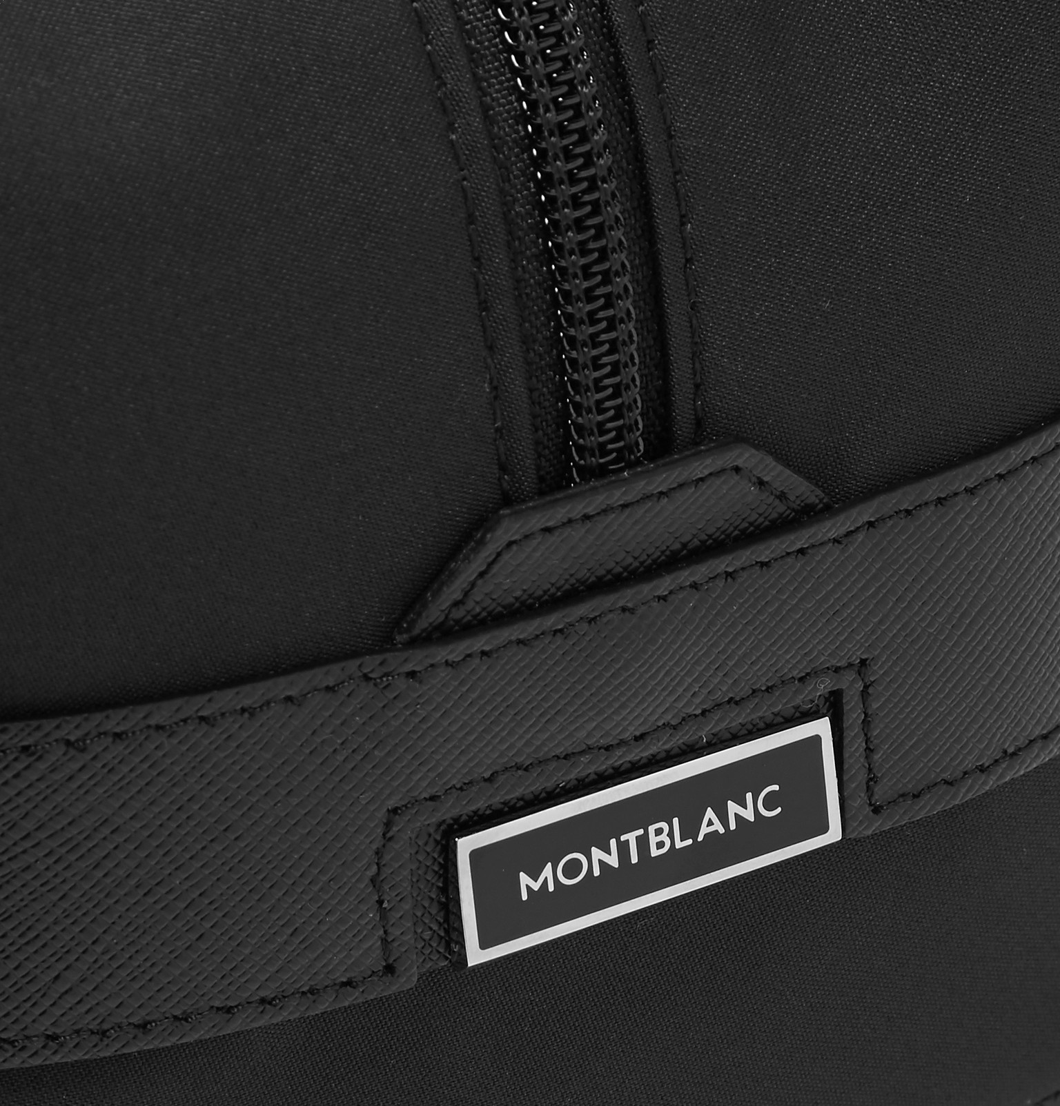 Montblanc - Sartorial Jet Cross-Grain Leather-Trimmed Shell Wash Bag 61f3315d08