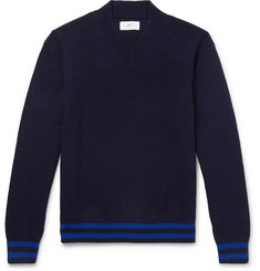 Mr P. - Striped Ribbed Cotton Sweater