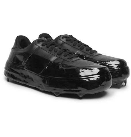 42 Force Rubber Trimmed Leather Sneakers by 424