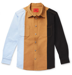 424 Oversized Colour-Block Denim Shirt