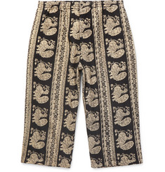 Beams Plus Cropped Printed Cotton Trousers
