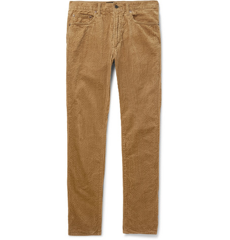 Slim Fit Cotton Corduroy Trousers by Beams Plus