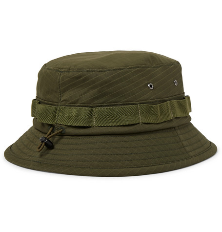 Webbing Trimmed Ripstop Bucket Hat by Beams Plus