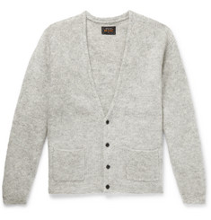 Beams Plus Ribbed Mélange Mohair-Blend Cardigan