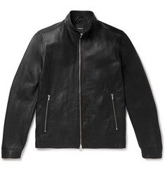 Theory Morvek Slim-Fit Leather Jacket