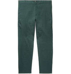 Theory Curtis Slim-Fit Stretch Linen-Blend Trousers