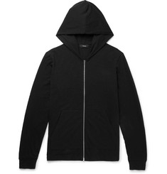Theory Cosmos Slub Cotton-Jersey Zip-Up Hoodie