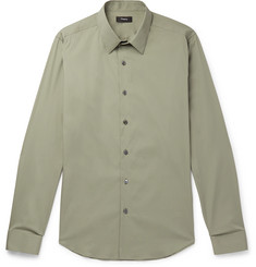Theory Sylvain Slim-Fit Stretch Cotton-Blend Poplin Shirt