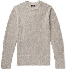 Theory Ardess Mélange Linen and Cotton-Blend Sweater