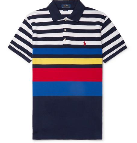 a5345605c Polo Ralph Lauren - Slim-Fit Striped Cotton-Piqué Polo Shirt