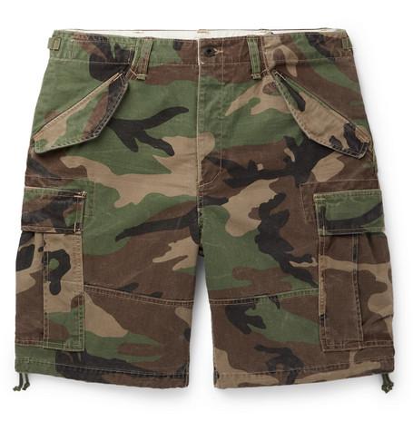 e2b153c72c Polo Ralph Lauren - Camouflage-Print Cotton Cargo Shorts