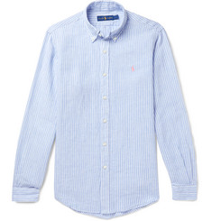 Polo Ralph Lauren Button-Down Collar Striped Linen Shirt