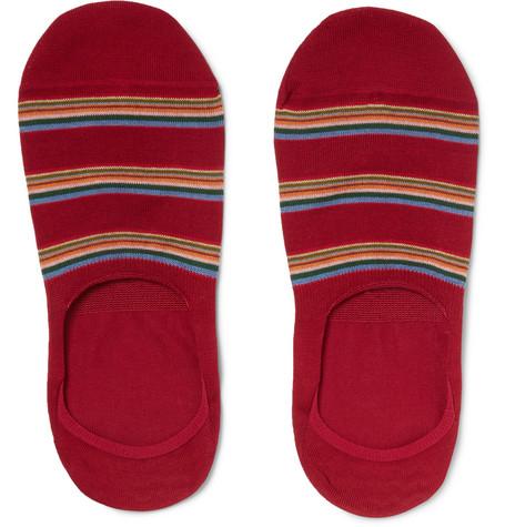 1fe0f471312 Paul Smith - Striped Mercerised Stretch Cotton-Blend No-Show Socks