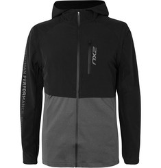 2XU GHST Panelled Stretch-Shell and Jersey Jacket with Detachable Arms